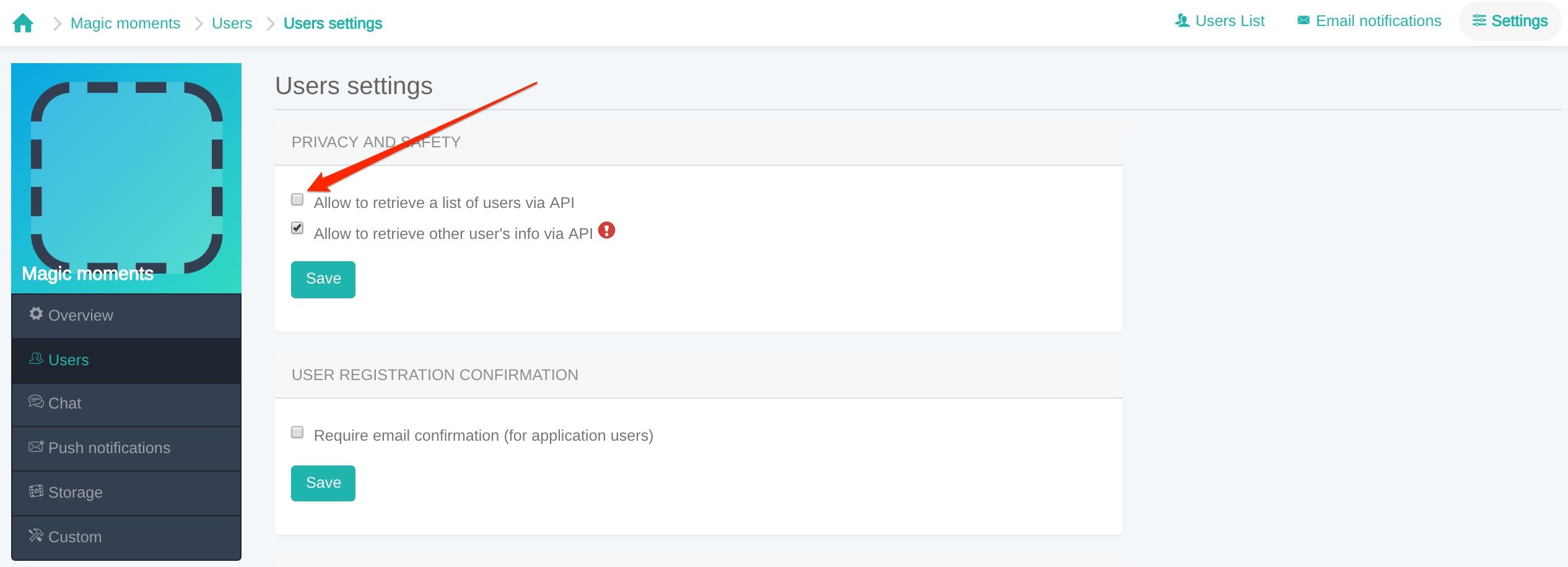 Users - ConnectyCube Developers (API docs, code samples, SDK)